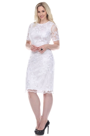 Wholesale Clothing Women's Floral Design Crochet Lace Dress -CC-2617-A