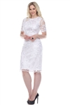 Wholesale Clothing Plus Size Women's Floral Design Crochet Lace Dress -CC-2617-B