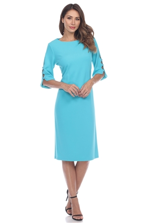 Wholesale Clothing Women's Cutout ¾  Sleeve Dress -CC-2622-A