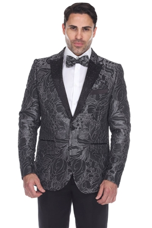 Wholesale Clothing Men's Blazer Jacket Print Design -JRM-1005-A