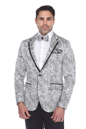 Wholesale Clothing Men's Blazer Jacket Print Design -JRM-1006-A