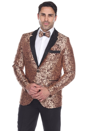 Wholesale Clothing Men's Blazer Jacket Print Design -JRM-1008-A