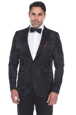 Wholesale Clothing Men's Blazer Jacket Print Design -JRM-1013-A
