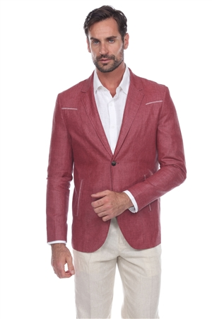 Wholesale Clothing Men's Casual Premium Linen Blazer Jacket -JRM-1016-A