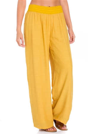 Wholesale Clothing Women's Comfy Casual Resort Lounge Palazzo Pant Fully Lined -LAP-5105-A