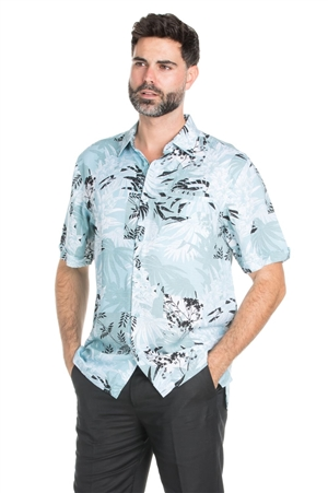 Wholesale Clothing Men's Casual Big & Tall Hawaiian Shirt -M-1835-C