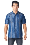 Mojito Mens Tencel Denim Guayabera Shirt Wholesale