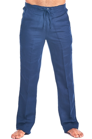 Men's Resort Lounge Casual Linen Drawstring  Pants