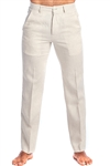 Men's Resort Lounge Casual 100% Linen Flat front Dress Pants
