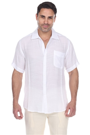 Wholesale Clothing Men's Beachwear Button Down Short Sleeve Shirt M-5234-A