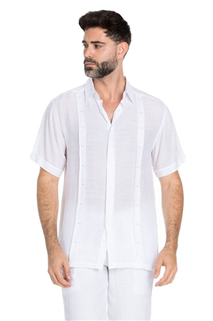 Wholesale Clothing Men's Big & Tall Beachwear Button Down Pin Tuck Shirt -M-5323-C