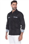 Wholesale Clothing Men's Premium Linen Guayabera Shirt Long Sleeve with Print Trim Accent -M-5351-A