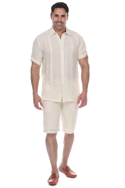 Wholesale Clothing Men's Burron Down Beachwear Short Sleeve Shirt -M-5376-B
