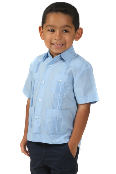 Wholesale Guayabera Shirt 100% Linen for Boy's by MOJITO.