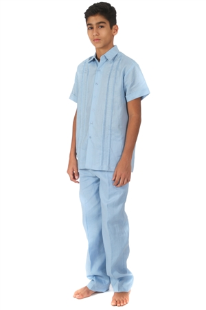 Wholesale Boy's Linen Set with Embroidery Design by MOJITO.