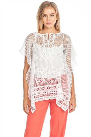 Vantarsi Crochet Lace Cover Up Tunic