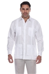Wholesale Clothing Men's Genuine Mojito Signature Collection 100% Linen Classic Guayabera Shirt 4 Pocket Long Sleeve -NC-2588-B
