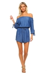 Wholesale Fashion Sexy Peasant Styled Long Sleeve Waist Tied Romper -NC-5013