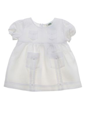 Baby Infant Girl Guayabera Linen Dress