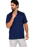 Wholesale Clothing Men's Premium Cotton Blend Short Sleeve Traditional 4 Pocket Guayabera Shirt  -NCM-1673-A