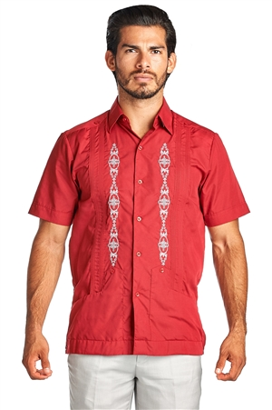 Wholesale Guayabera Men's Shirt with Embroidery