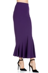Wholesale Clothing Plus Size Women's Stylish Maxi Mermaid Skirt -RA-024-B