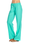Women's Casual Linen Pants with Drawstring Waistline