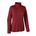 Patagonia Capilene Midweight Zip Neck Red - Women's