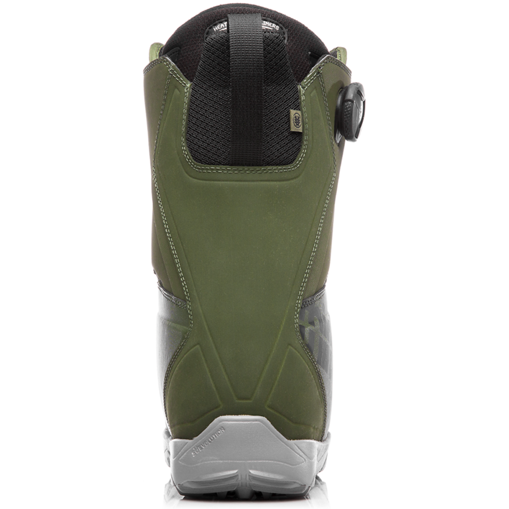 Thirtytwo Lashed Double Boa Olive Mens 2019 Snowboard Boots