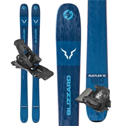 Blizzard Rustler 10 Skis - 2020 With Attack 13 Bindings.