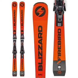 Blizzard Firebird SRC Xcell Skis with Bindings Orange/Black - 2019
