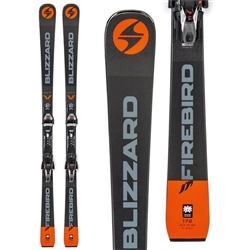 Blizzard Firebird D Competition TPx12 Skis with Bindings Orange/Black - 2019