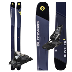 Blizzard Rustler 9 Skis 2019 W/ Marker Black Squire Bindings