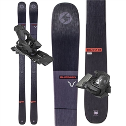 Blizzard Brahma 88 Skis Black - 2020 With Attack 13 Bindings.