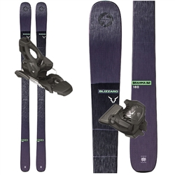 Blizzard Brahma 82 Skis Black - 2020 With Attack 11 Bindings.