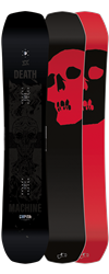 Capita Black Snowboard of Death 2021 base and top sheet alternate colors