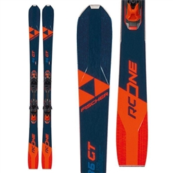 Fischer RC One 86 GT Skis Orange and Dark Blue Colorway 2021