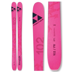 Fischer Ranger 102 FR Skis 2021 Blue Topsheet and Base Pink Topsheet and Base