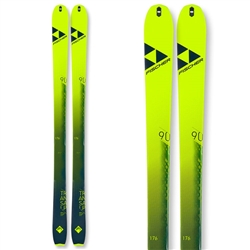 Fischer Transalp Carbon Skis 2021 Topsheet and Base Colors Neon Yellow and Black