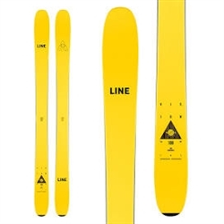 Line Vision 108 Skis 2021 Yellow Topsheet & Black Base Graphic