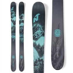Nordica Santa Ana 104 Free Skis - 2021 Black and Blue Colorway