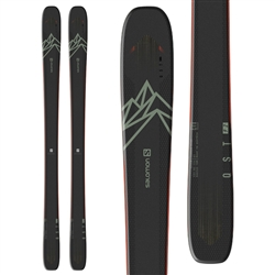Salomon QST 92 Skis - 2021 Black/Olive Green/Orange