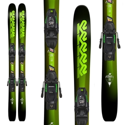 K2 Pinnacle Jr Skis w/ FDT 4.5 Jr. Bindings - 2018