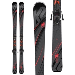 K2 Men's Secret Luv Er3 10 Compact Quikclik Skis with Binding - 2019