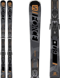 Salomon S/FORCE 9 Skis: Black and Gold