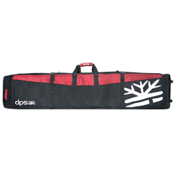 DPS Rolling Quiver Ski Bag Black/Red - 2019