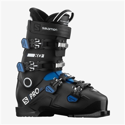 Salomon S Pro HV 80 IC Ski Boot - 2021 Black, Race Blue, White colorway