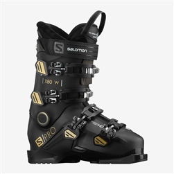 Salomon S/Pro X80 W CS Ski Boot 2021 Black, Beluga, Gold Colorway