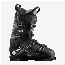 Salomon S Pro 120 Ski Boot 2021 Black/Oil/Green