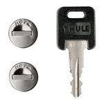 Thule One Key Lock Cylinder system - 4 keyed alike locks and keys